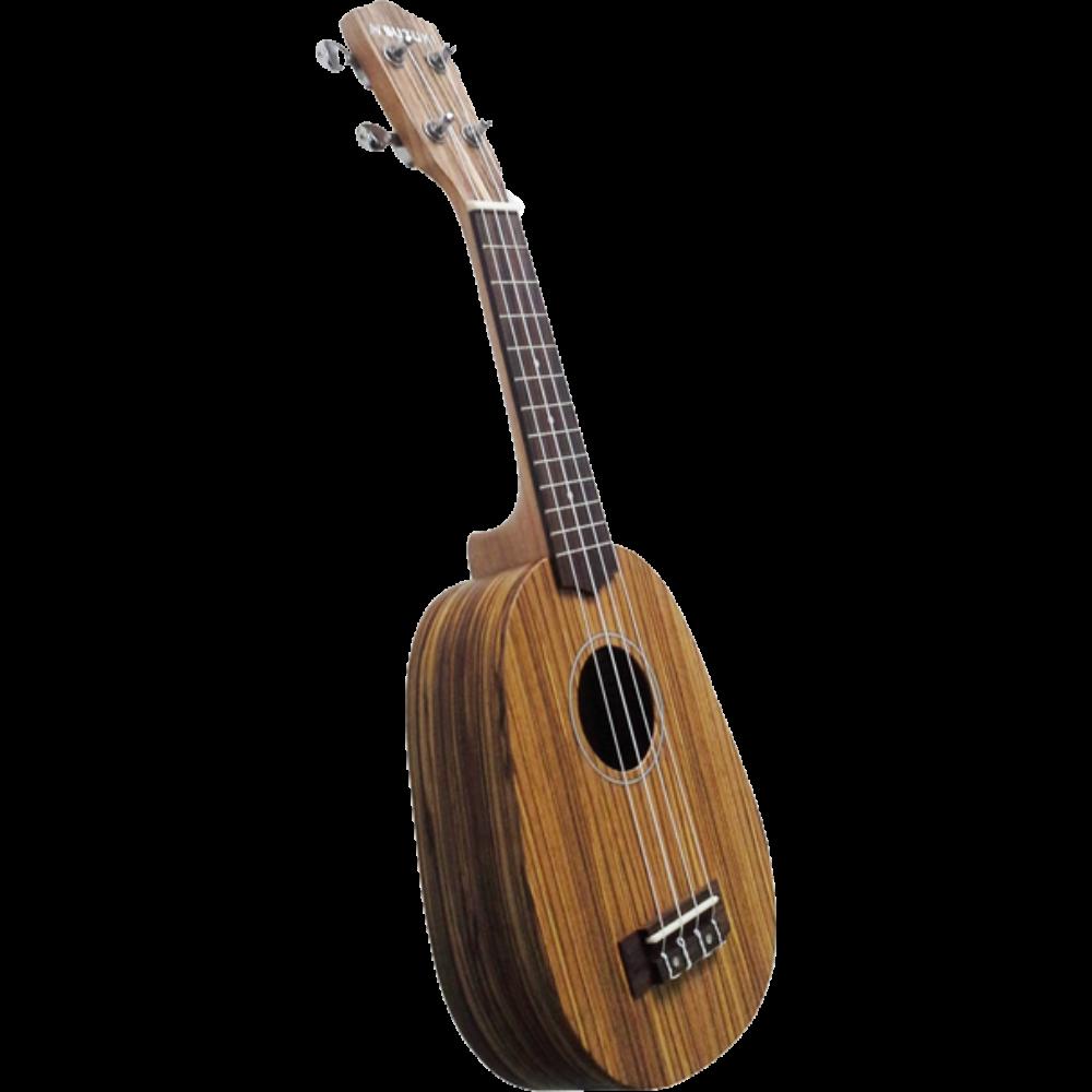 Suzuki Pineapple Soprano Ukulele - Zebra Wood