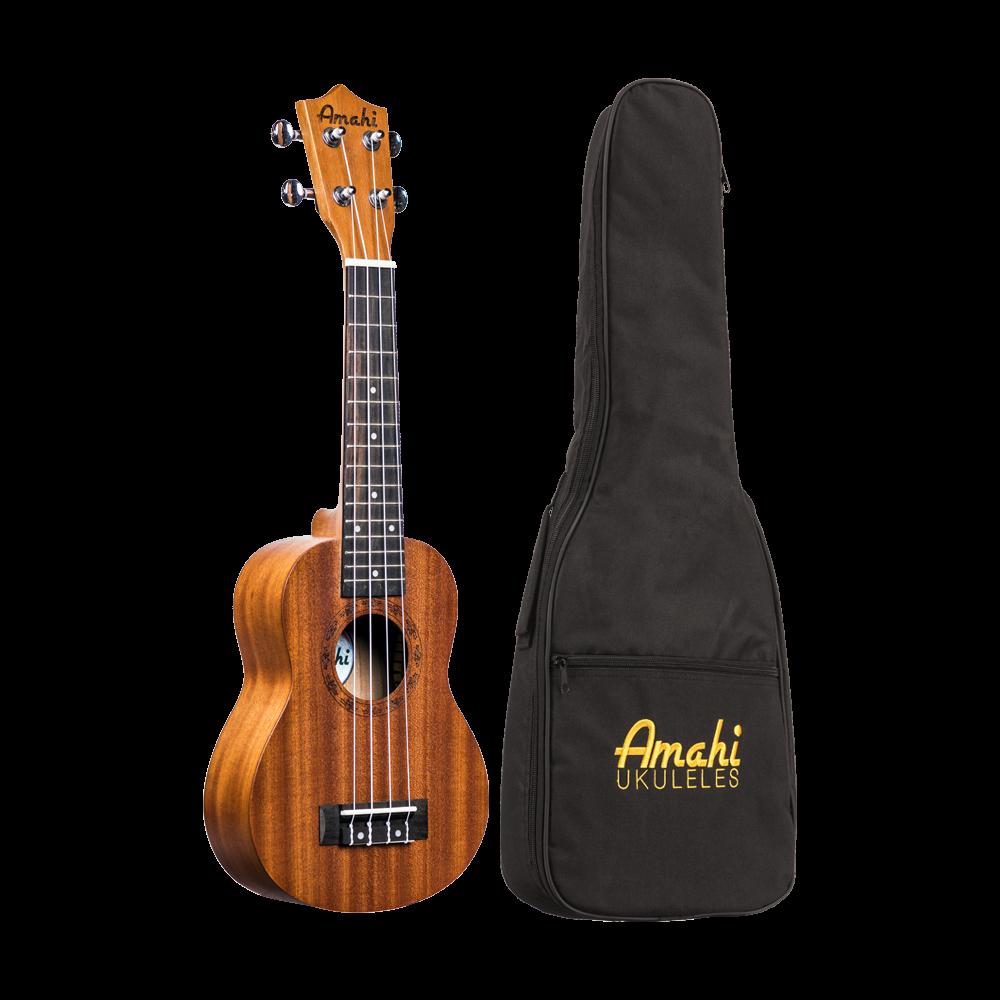 Amahi UK210S Soprano Ukulele w/Deluxe Bag
