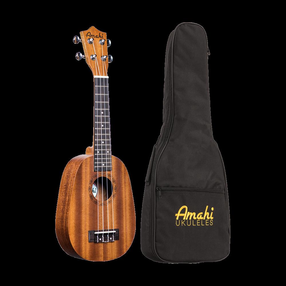 Amahi UK240S Soprano Pineapple Ukulele w/Deluxe Bag