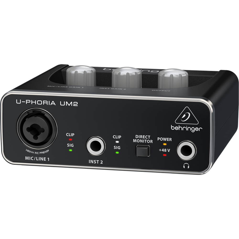 Behringer Audiophile 2x2 USB Audio Interface with XENYX Mic Preamplifier