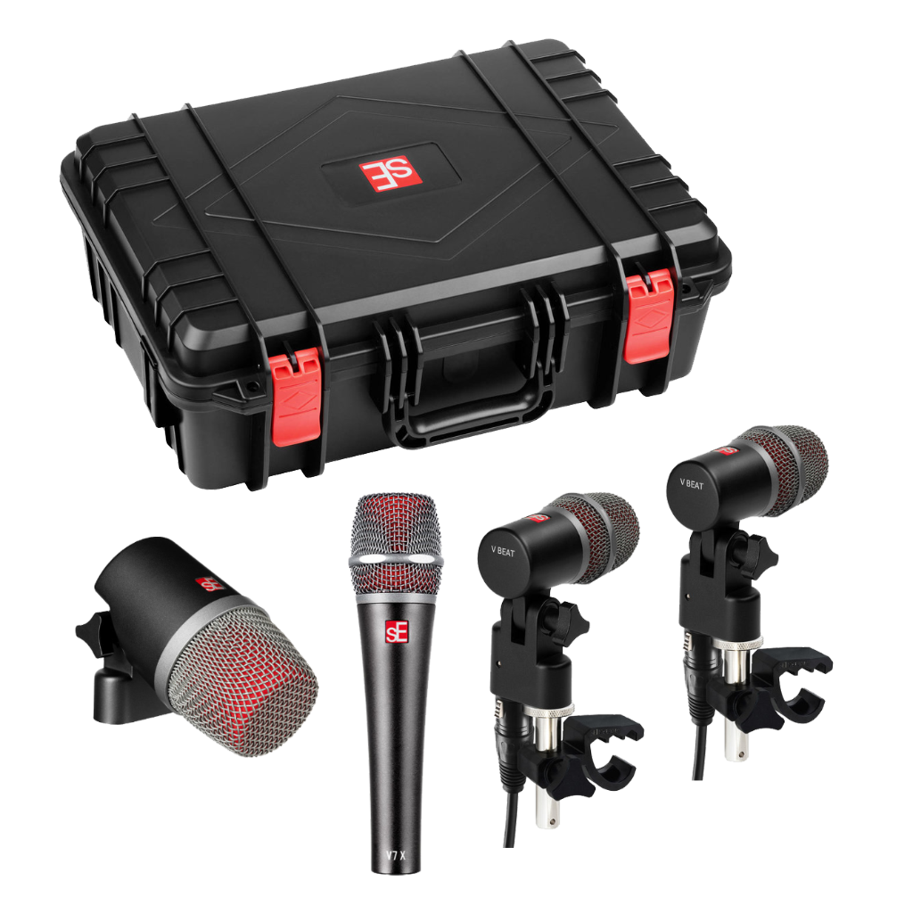sE Electronics V PACK VENUE Drum Microphone Kit w/Case