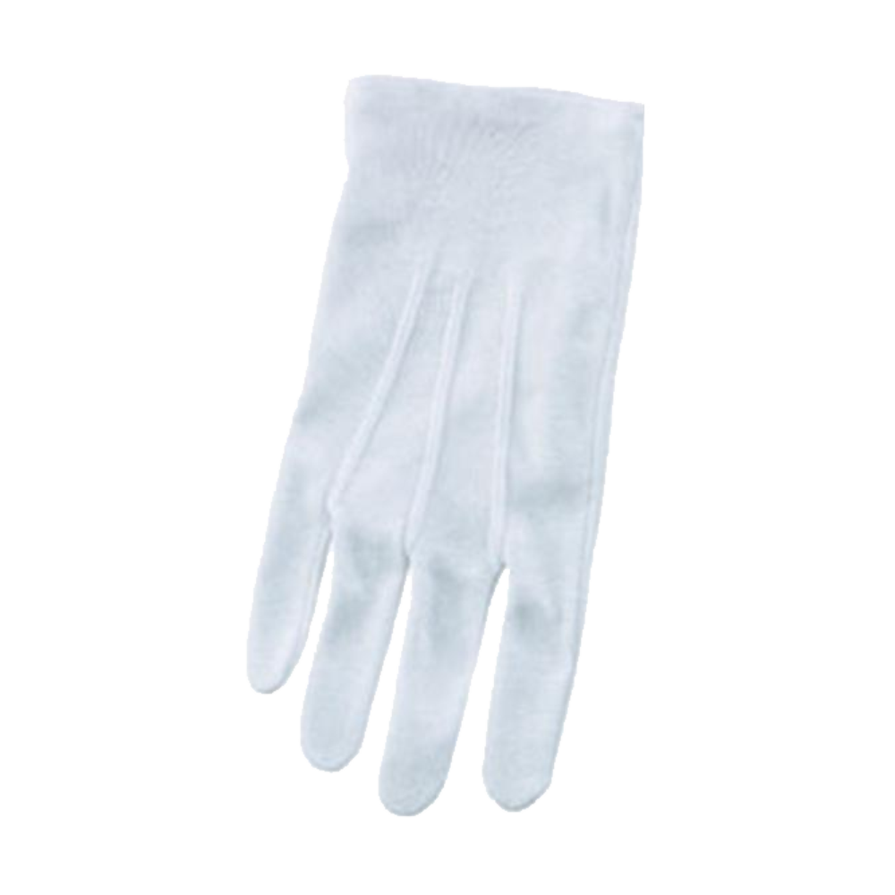 Director's Showcase White Cotton Gloves - Large