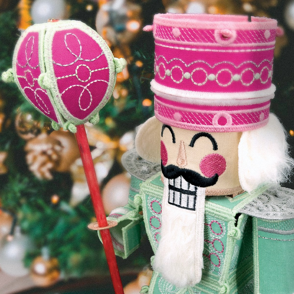 Scissortail Stitches Freestanding Sugar Plum Nutcracker