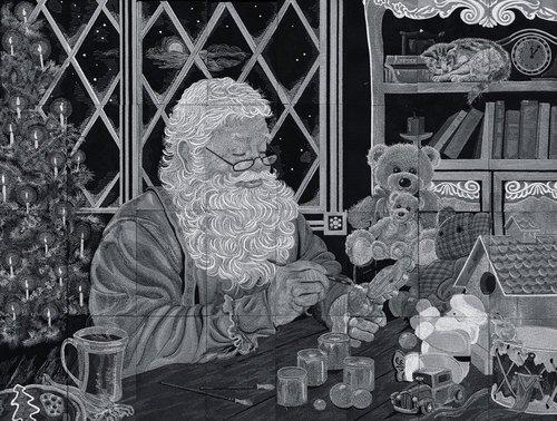 OESD: Santa's Workshop Tiling Scene by Dona Gelsinger CD