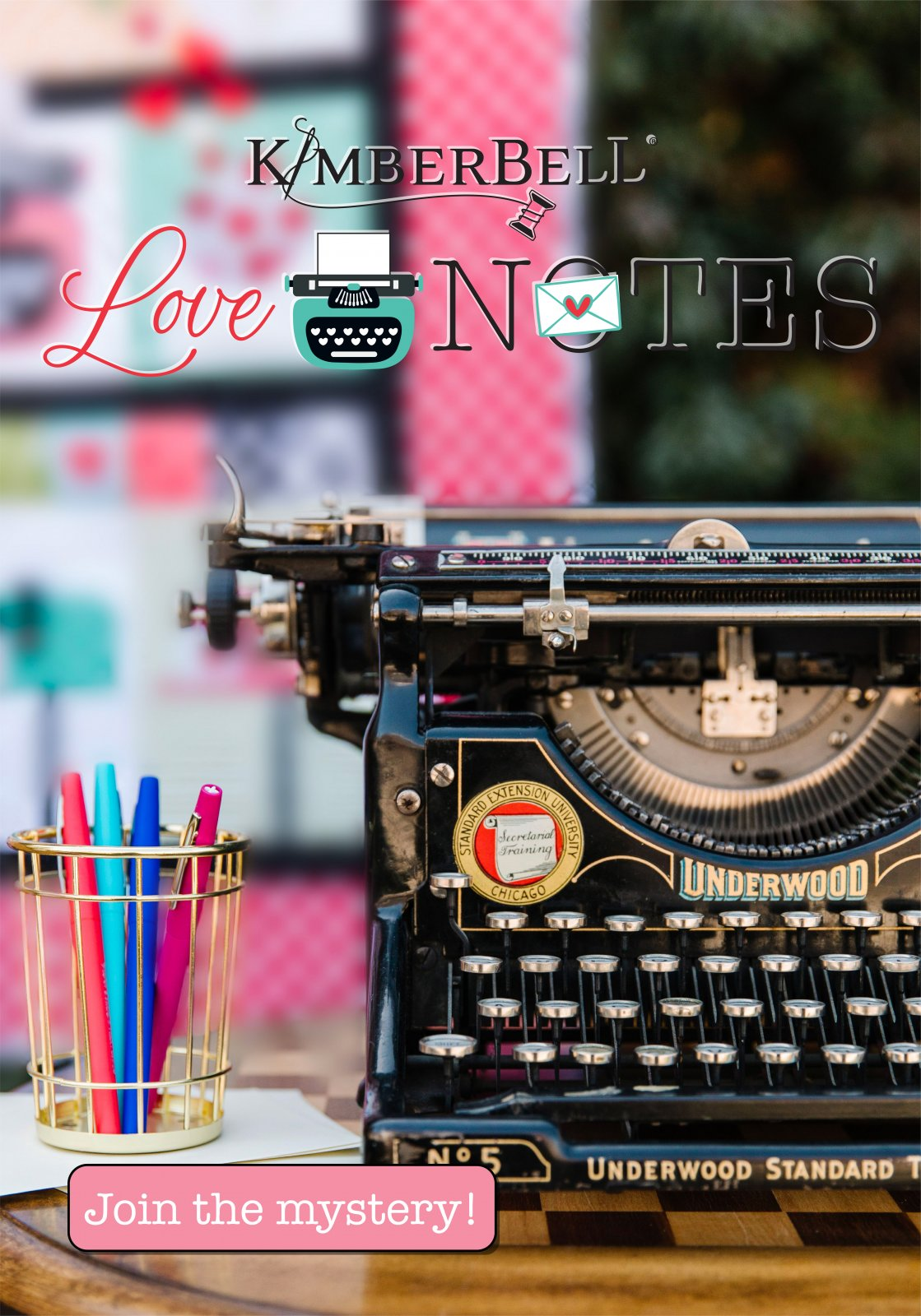 Pre-order: Love Notes Mystery Quilt by Kimberbell Designs Sewing Version Kit