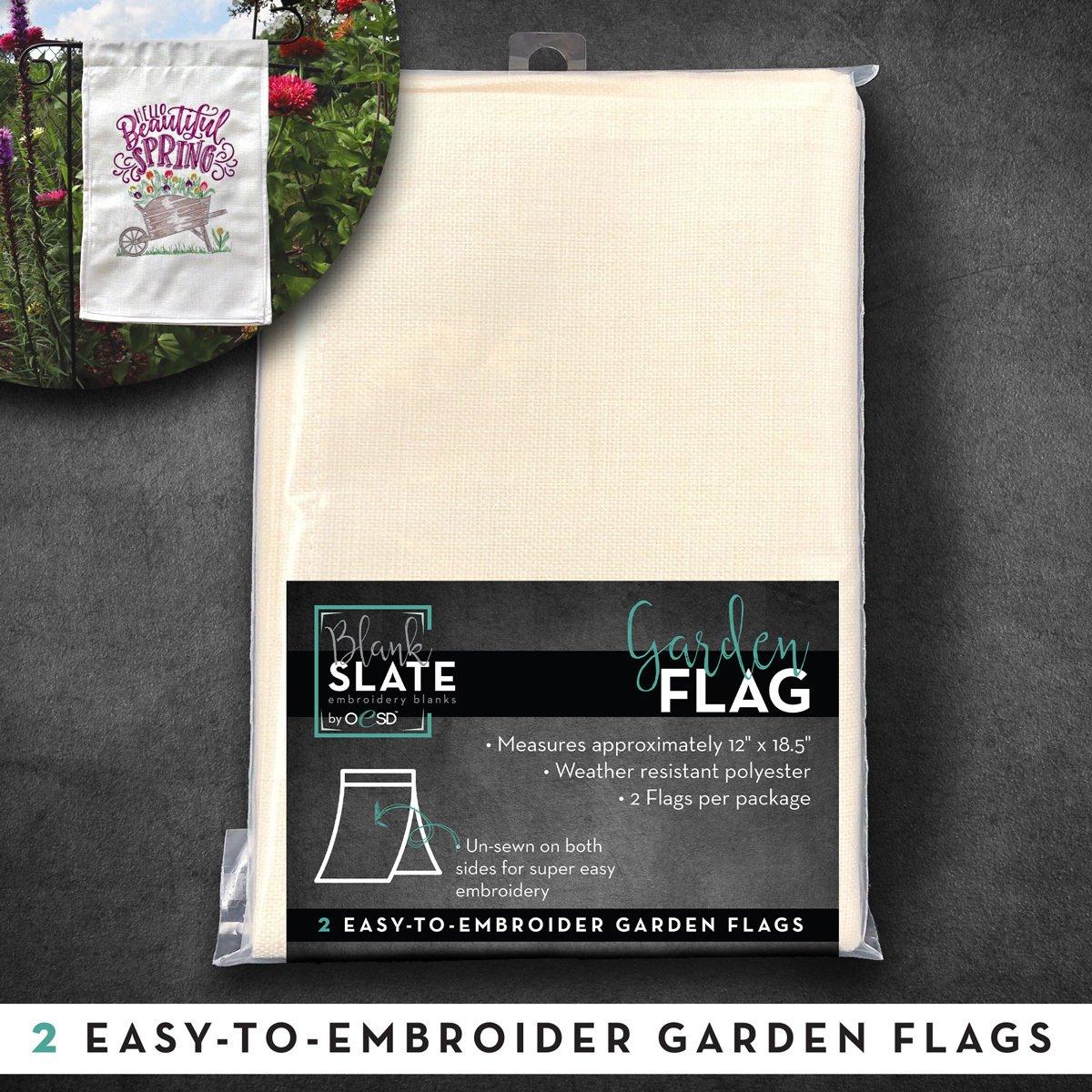 OESD Garden Flag 2 Pack
