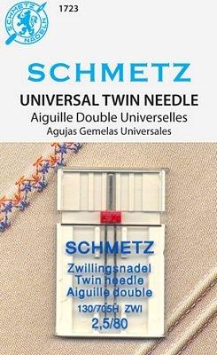 Schmetz Universal Twin Size 2.5/80 1 Pack
