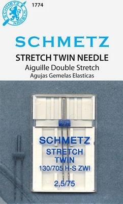 Schmetz Stretch Twin Size 2.5/75 1 Pack