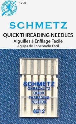 Schmetz Quick Threading Size 80/12 5 Pack