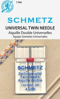 Schmetz Universal Twin Size 4.0/80 1 Pack