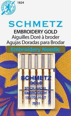 Schmetz Embroidery Gold Size 75/11 5 Pack