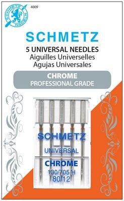 Schmetz Chrome Universal Size 80/12 5 Pack