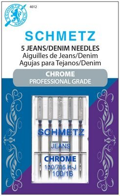 Schmetz Chrome Jeans/Denim Size 100/16 5 Pack