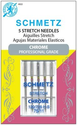 Schmetz Chrome Stretch Size 75/11 5 Pack