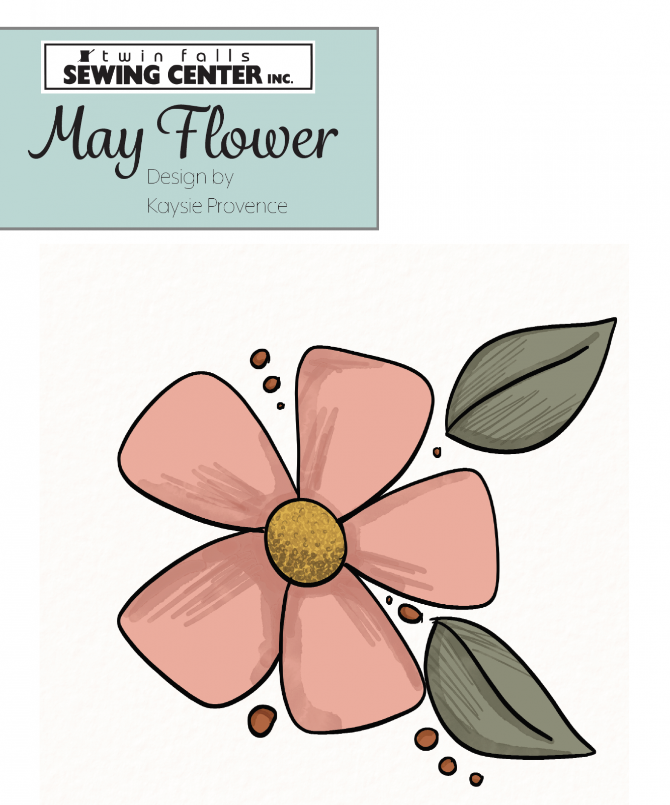 May Flower Applique Pattern