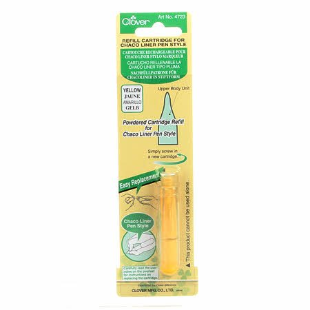 Clover Chaco Liner Pen Style Refill Yellow