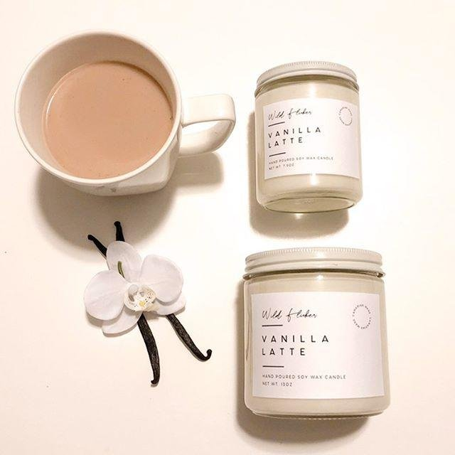Vanilla Latte Soy Wax Candle - Wild Flicker