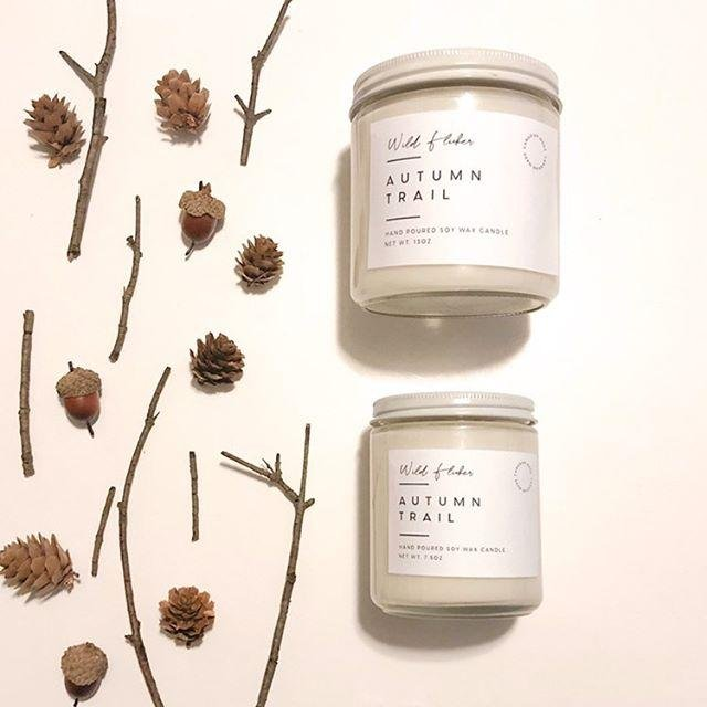 Autumn Trail Soy Wax Candle - Wild Flicker
