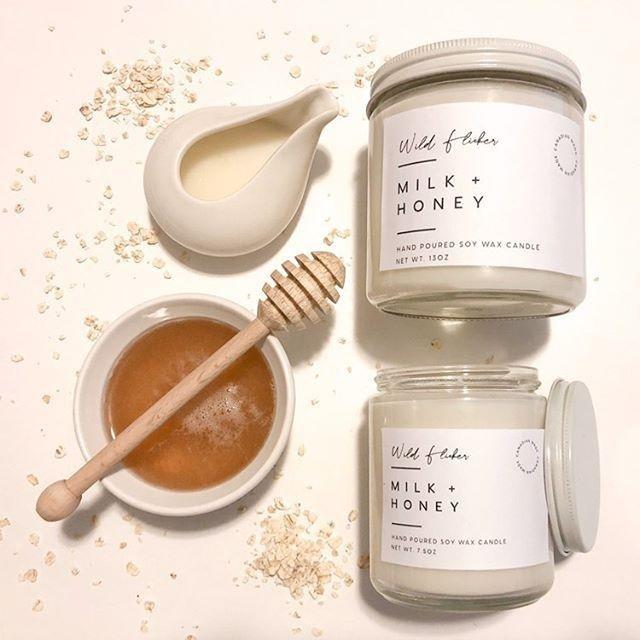 Milk + Honey Soy Wax Candle - Wild Flicker