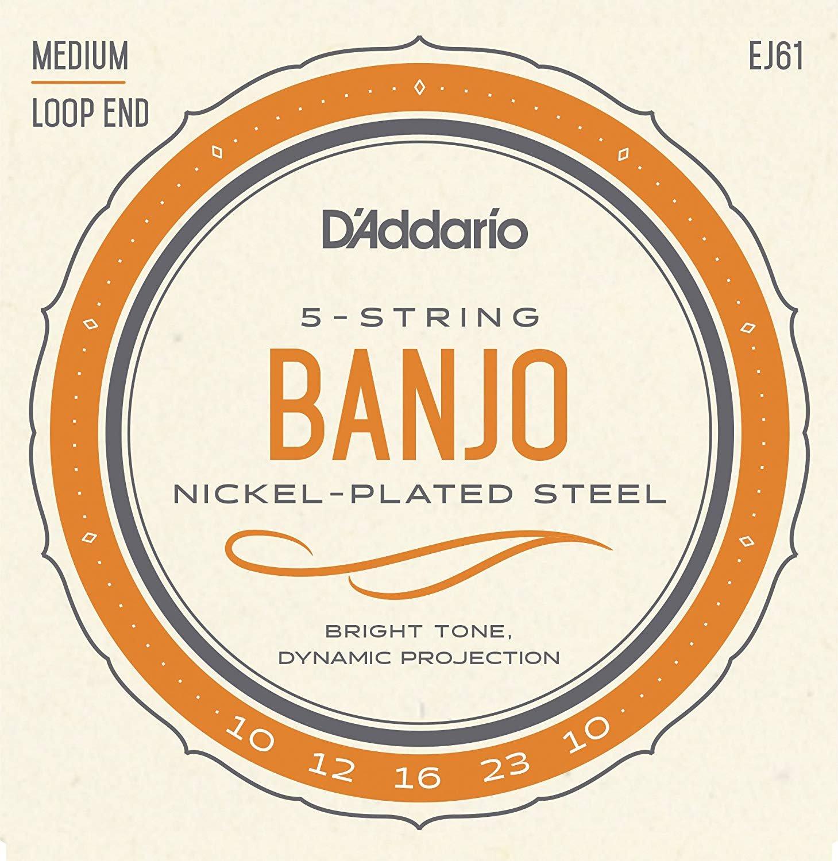 D'Addario Nickel Plated Steel Banjo, Medium