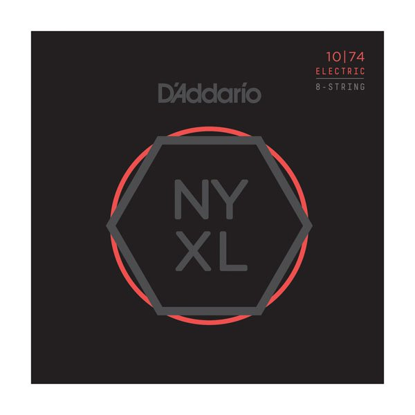 D'Addario NYXL Nickel Wound Electric, Light Top/Heavy Bottom 8-String