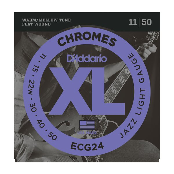 DAddario XL Chromes Flat Wound Electric Jazz Light