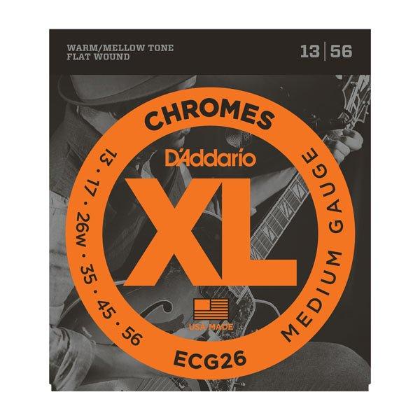 DAddario XL Chromes Flat Wound Electric Medium