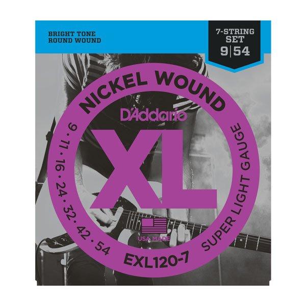 D'Addario XL Nickel Wound Electric, Super Light 7-String