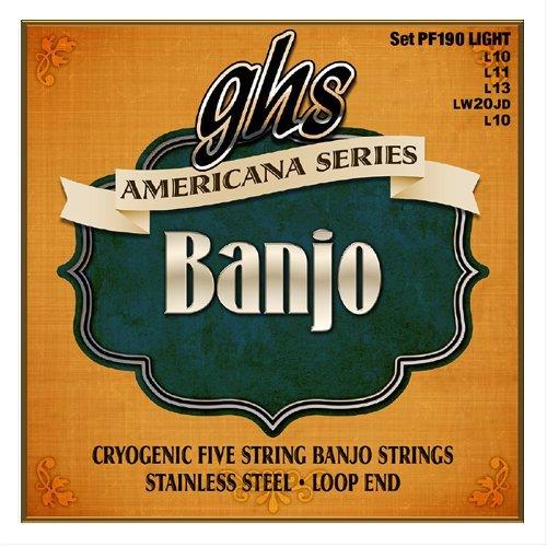 GHS Americana Series Stainless Steel Banjo, Light