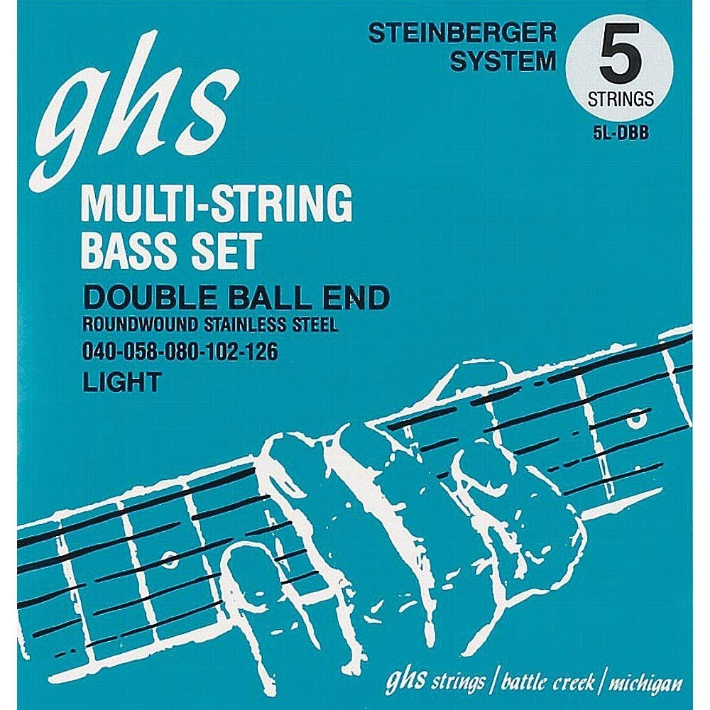 GHS Double Ball End Roundwound Stainless Steel Electric Bass, Light
