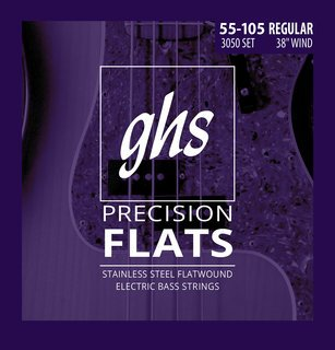 GHS Precision Flats Stainless Steel Flatwound Electric Bass, Regular