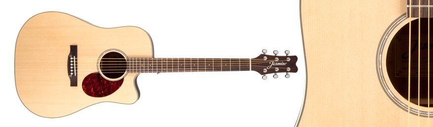 Jasmine Dreadnought Acoustic Electric