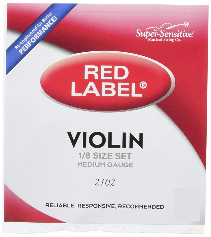 Super-Sensitive Red Label 1/8 Violin String Set, Medium