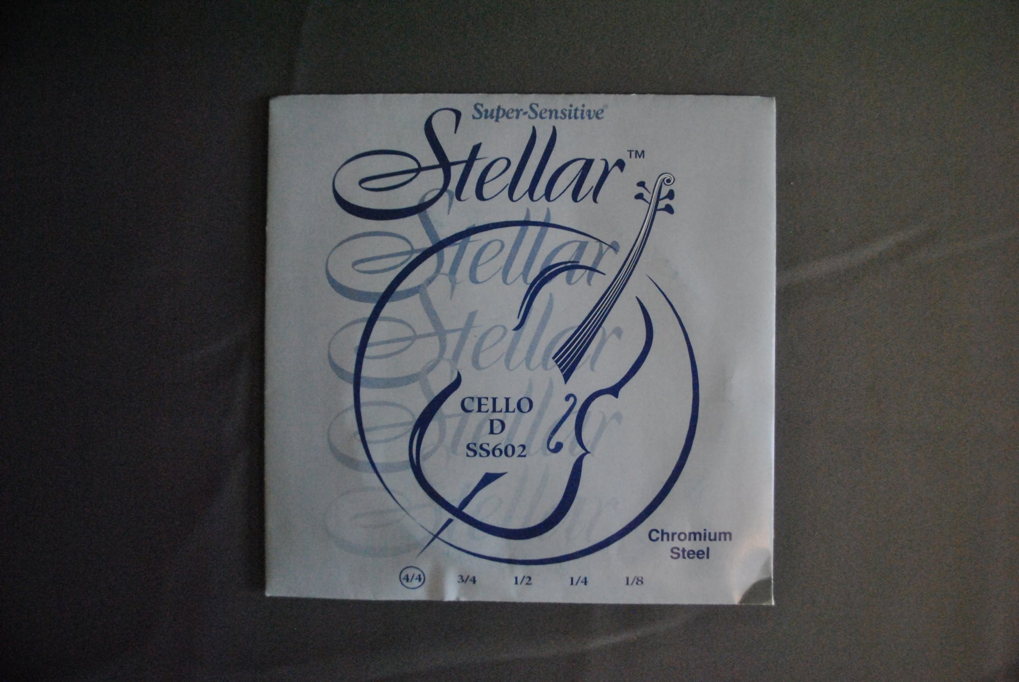 Super-Sensitive Stellar Chromium Steel 4/4 Cello String, D