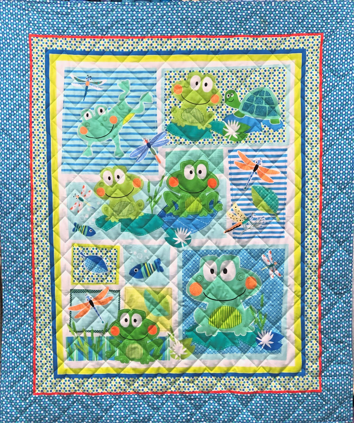 TOADILY CUTE PANEL QUILT KIT
