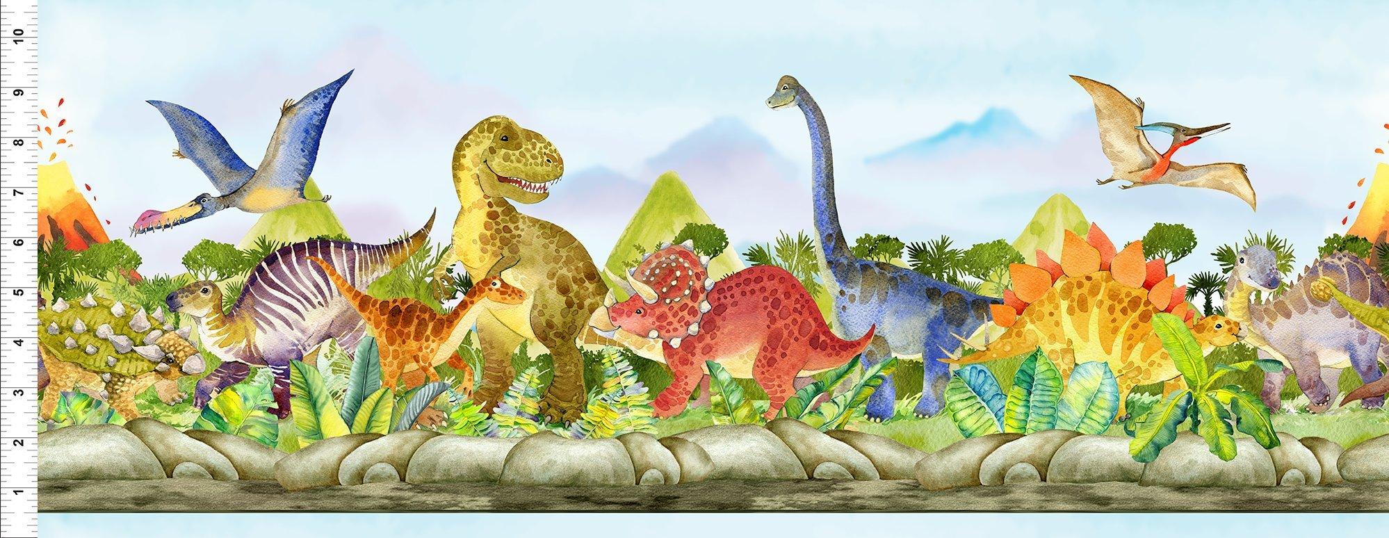 Dinosaur Friends Stripe 2DIN-1