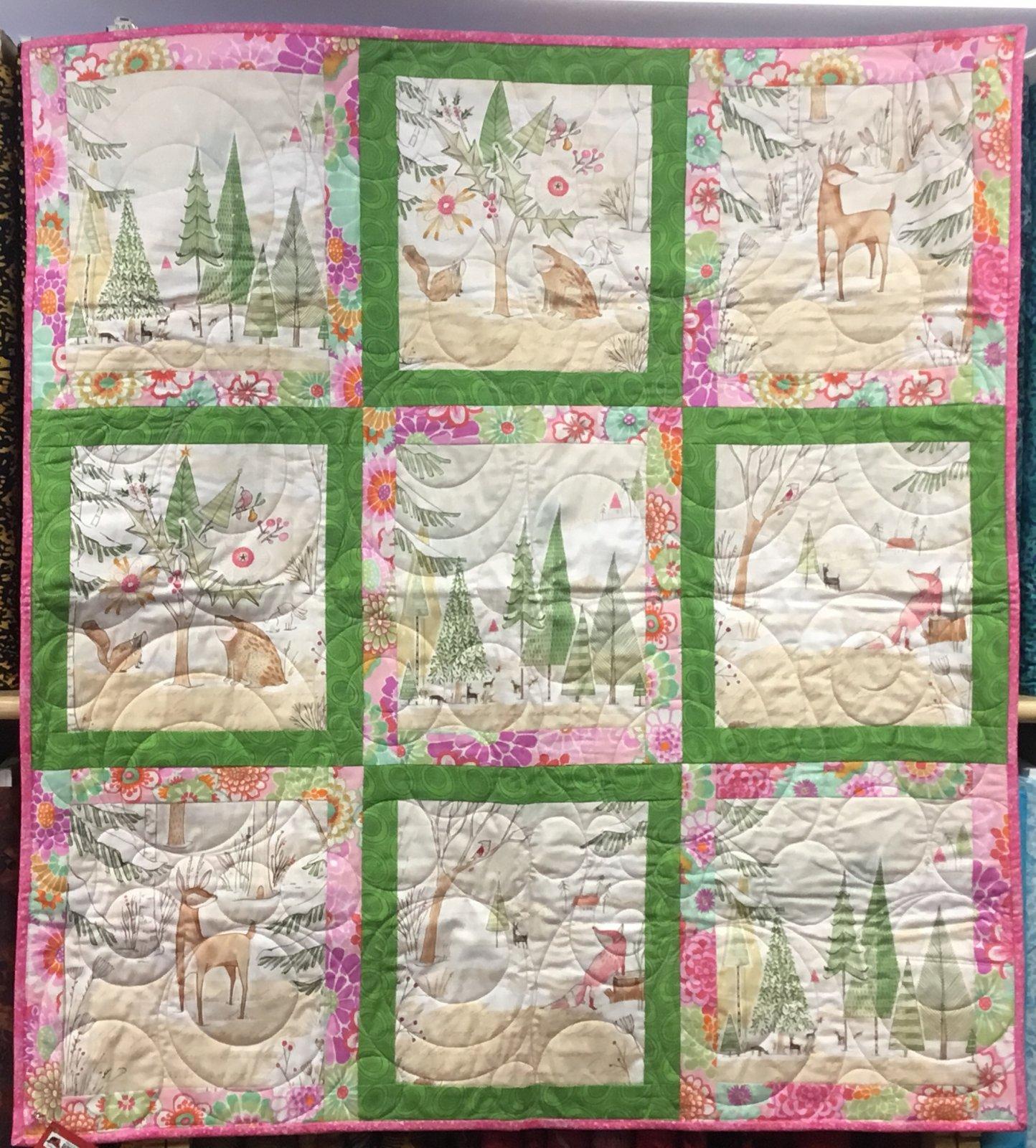 Quilt - Winter Critters 35 X 38