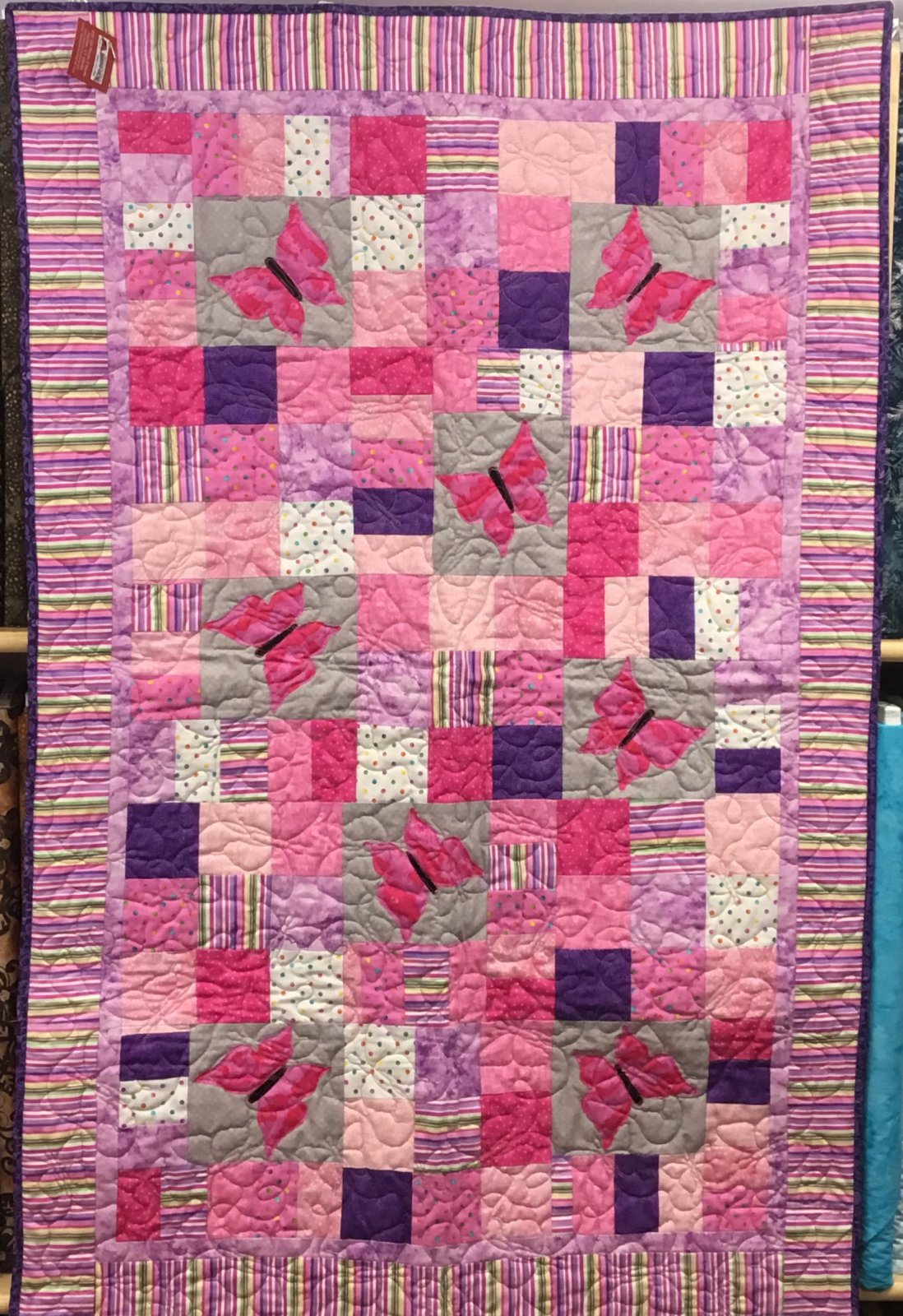 Quilt - Butterfly Baby 33 1/2 X 50