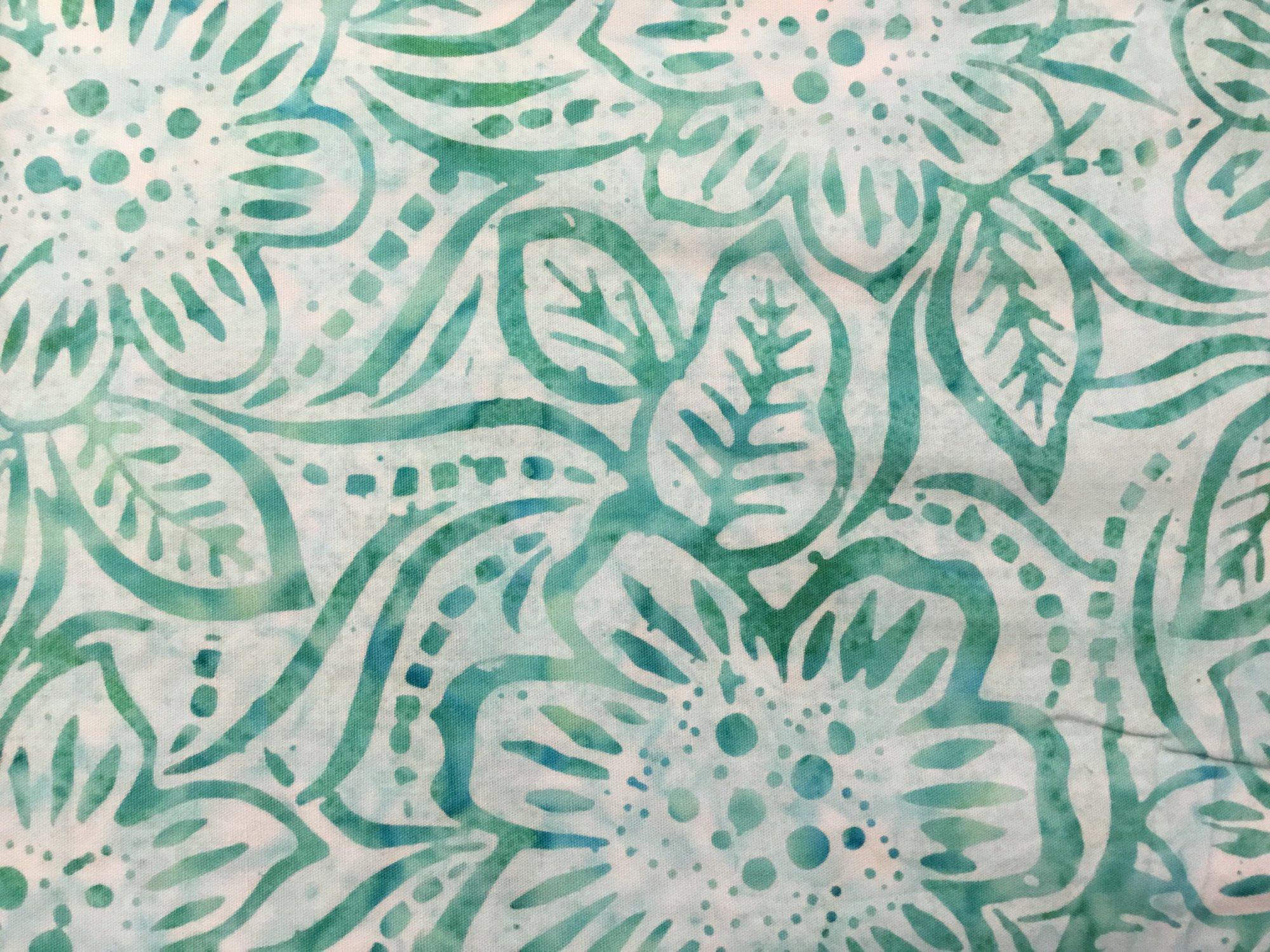 Aqua Dancing Flowers Batik