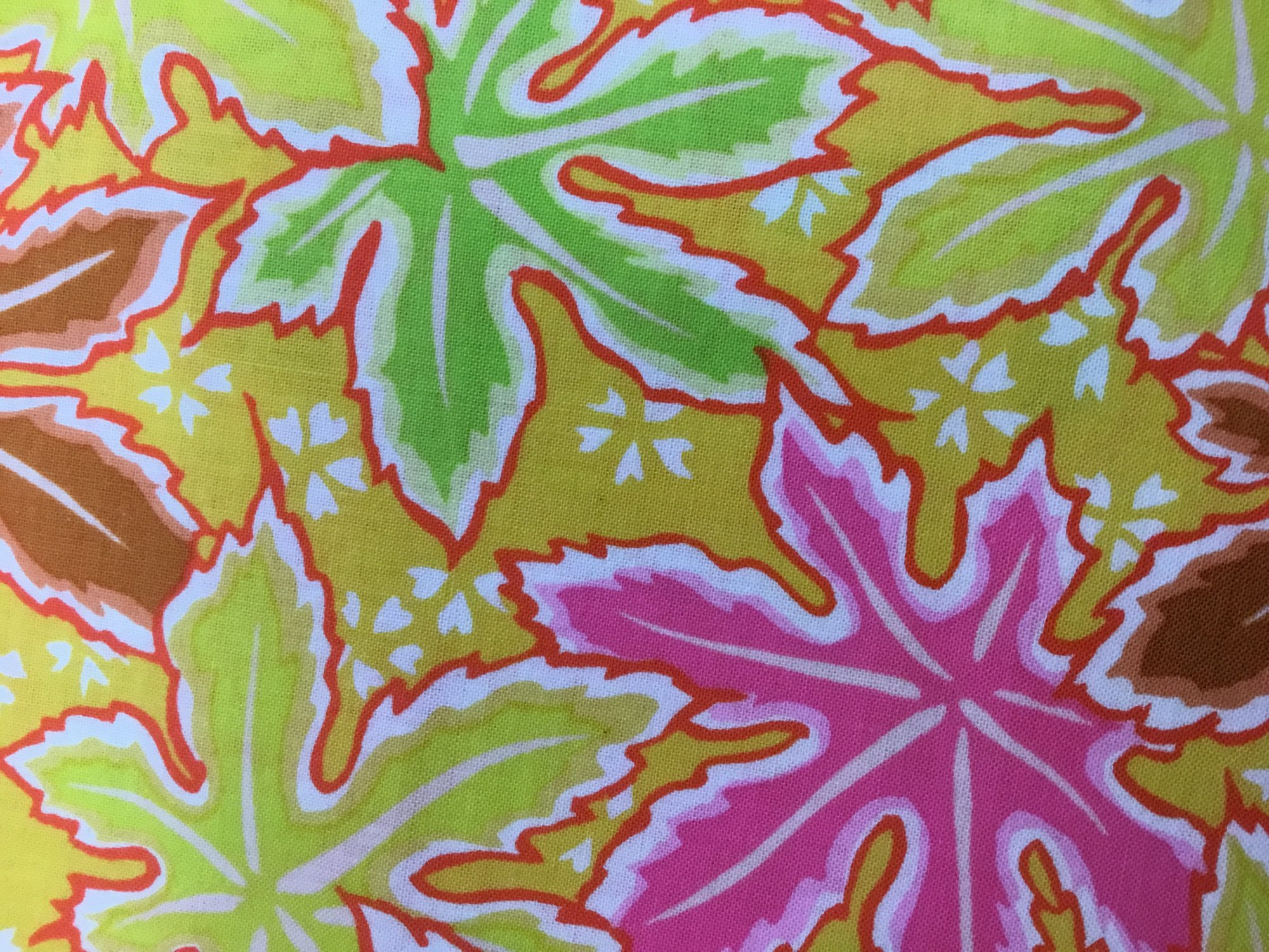 KAFFE FASSETT Philip Jacobs - Spring 2018 - Lacy Leaf - Yellow