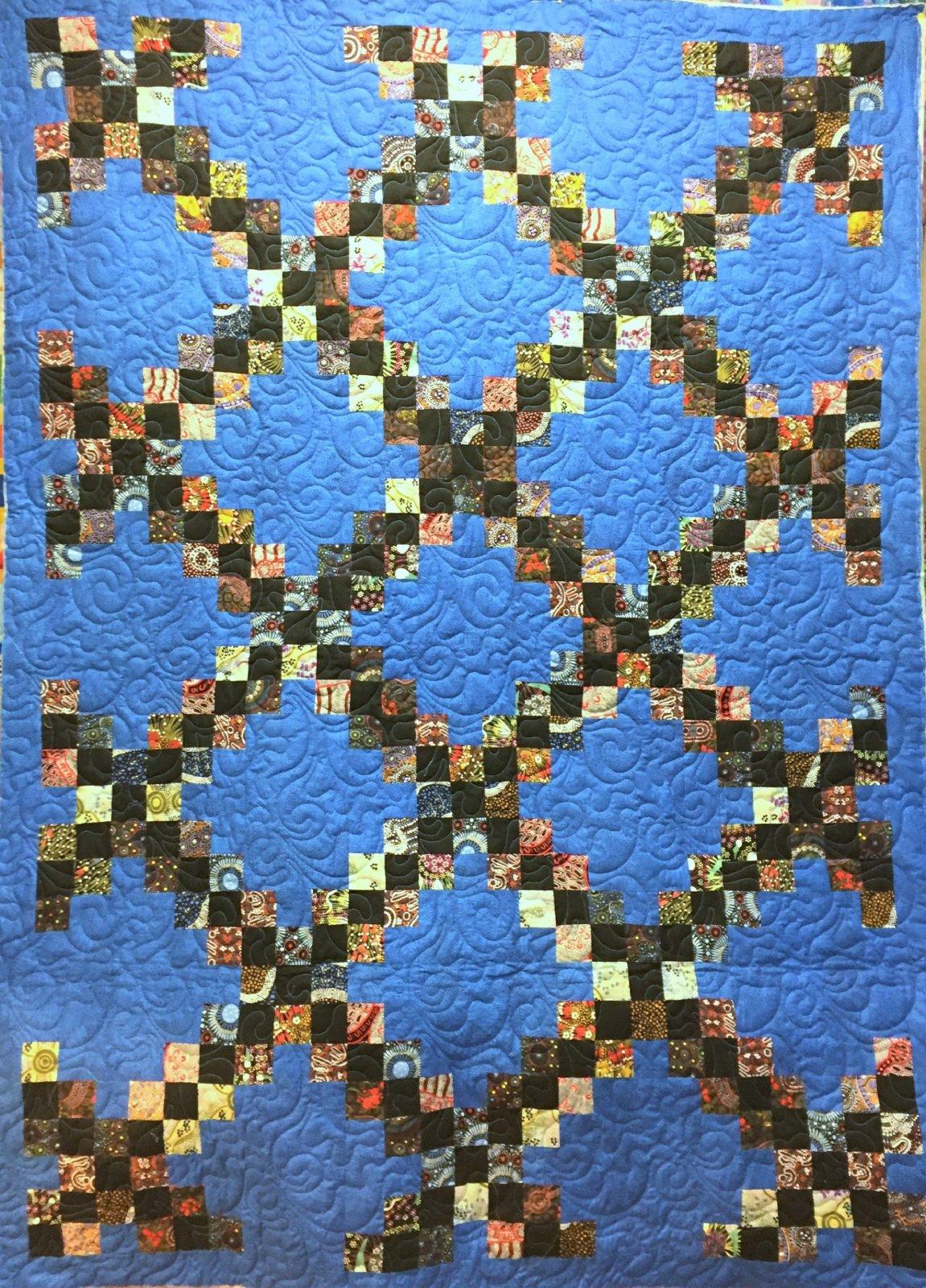 Irish Chain Lap Quilt Kit-Australian