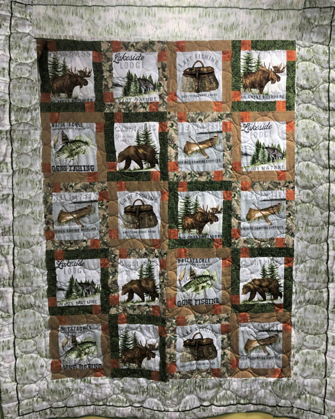 LAKESIDE LODGE FLANNEL QUILT KIT