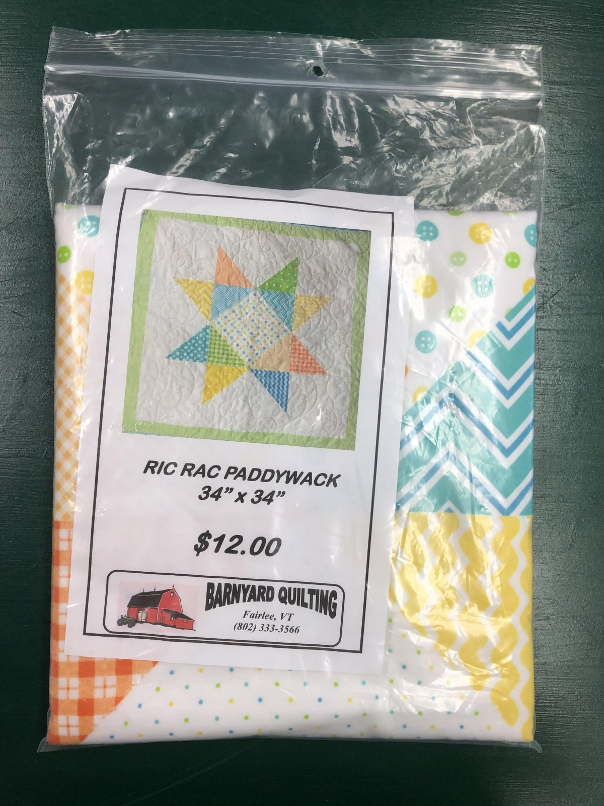 RIC RAC PADDYWACK FLANNEL BABY QUILT KIT