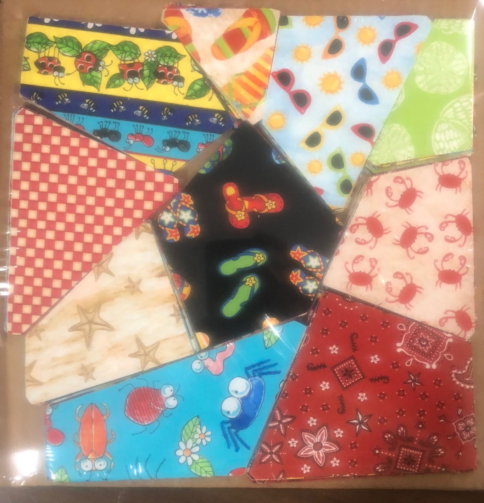 AccuQuilt crazy quilt block Beach theme