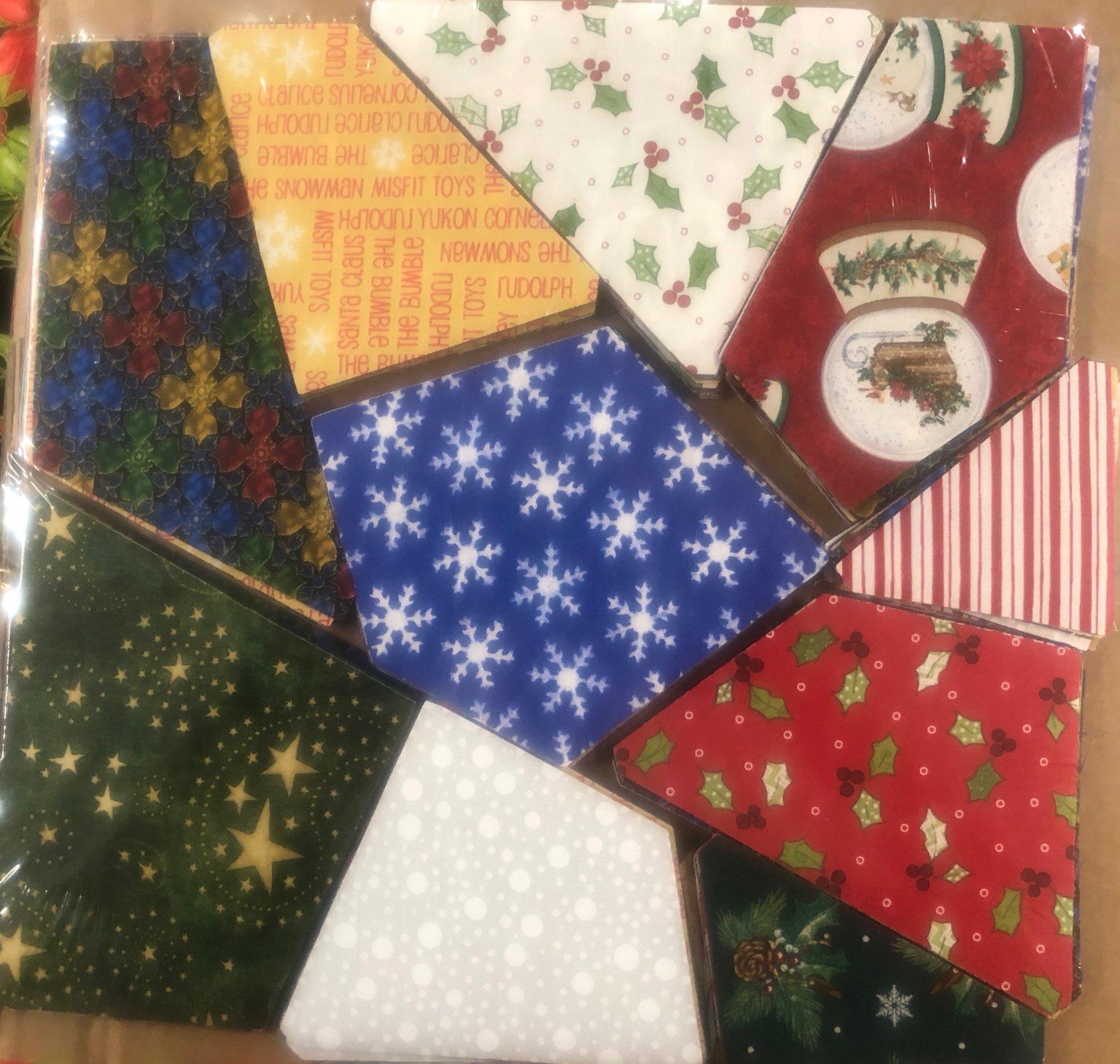 AccuQuilt crazy quilt block Christmas