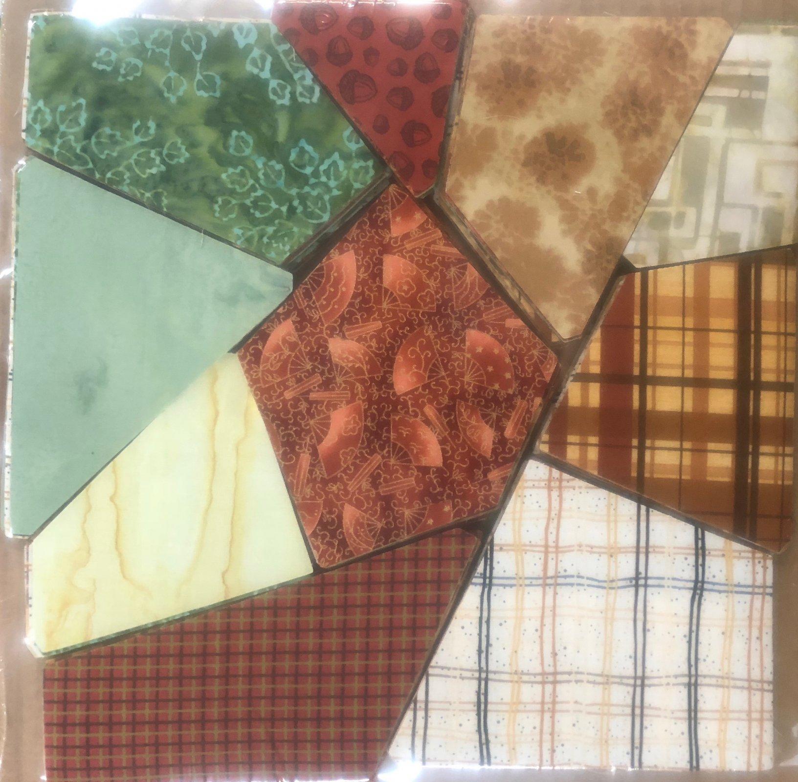 AccuQuilt crazy quilt block Fall Colors