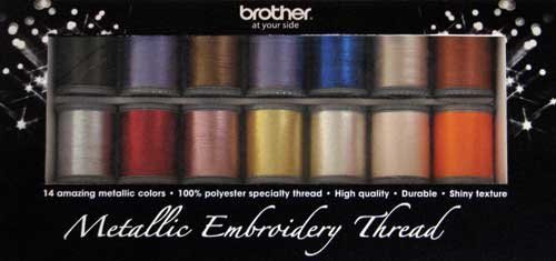 Metallic Embroidery Thread 14 colors