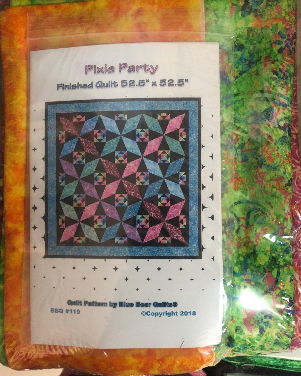 Pixie Party quilt kit