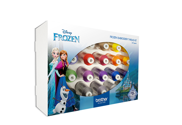 24 PK Disney Frozen Emb Thread