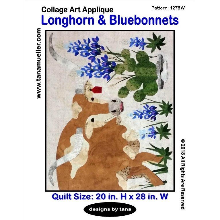 1505 Longhorn and Bluebonnets
